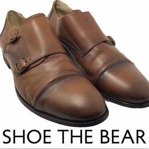 Shoe The Bear double monk strap brown dress shoes